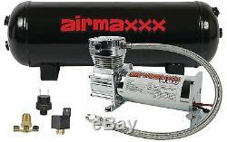 Compresseur D'air Chrome 400 Airmaxxx 3 Gallons Réservoir D'air De Vidange 90 Sur 120 Hors Commutateur