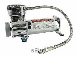 Compresseur D'air Chromé 400 Airmaxxx 3 Gallons, Vidange De Réservoir D'air 165 Sur 200