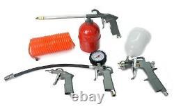Compresseur D'air De 50 Ltr Litre 4 Cfm 2.5hp 8 Bar Portable 2800rpm + 5pc Air Kit