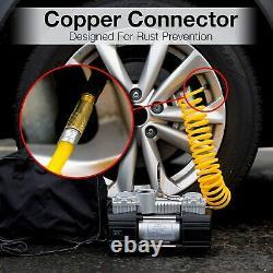 Compresseur D'air Kit Rv Portable Suv Camion Haut Volume Off Road Gonfler Les Pneus Nouveau