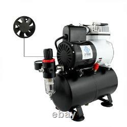 Compresseur D'air Ophir 220v Avec Ventilateur De Réservoir Pour Kit D'aérographe