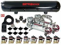 Compresseurs D'air Au Chrome 480 Airmaxxx, 1/2 Soupapes, Réservoir À Interrupteur Noir À Commande Pneumatique 7