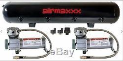 Compresseurs D'air Kit De Suspension Pneumatique Airmaxxx De 5 Gallons, 400 Gallons D'air, Étain