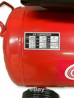 Crytec Compresseur D'air 50 Litres 2.5hp 8bar 5pc Spray Kit