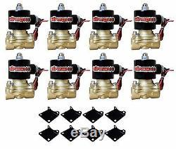 Deux Compresseurs D'air 1/2 Tour En Laiton Supports Valves 2600 Sacs Air Noir 7 Commutateur