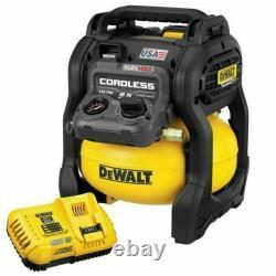 Dewalt Dcc2560t1r Flexvolt 60v Max 0,4 HP 2,5 Kit Compresseur D'air Sans Fil Gallon