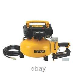 Dewalt Dwc1kit-b 6 Compresseur Gallon & 18 Guage Brad Nailer Combo Kit