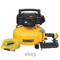 Dewalt Dwfp1kit 165 Psi 18 Gauge 2-1/8 Nailer Pneumatique Avec Kit Combo Compresseur