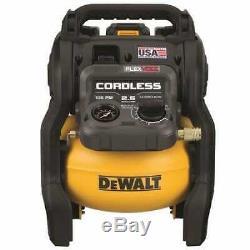 Dewalt-dcc2560t1 60v Max 2.5 Gal Sans Fil Compresseur D'air Kit