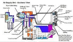 Discovery 3 Compresseur D'air Pompe & Dryer Master Kit De Réparation Hitachi Land Rover