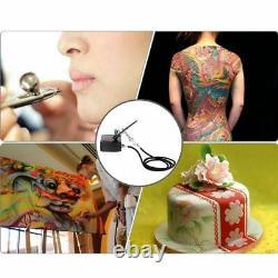 Dual Action Airbrush Air Compressor Kit Aerografo Pour Art Painting Tattoo