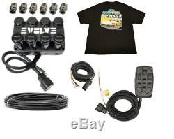 Evolve 4-corner Air Electrovanne Boîte Collecteur Commutateur X7 3/8 Tuyau Libre T-shirt