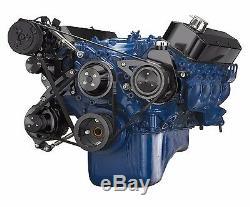 Ford Big Black Bloc Serpentine Poulie Kit Climatisation 460 Bbf Sanden A / C