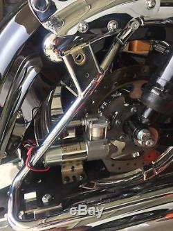 Harley Air Ride Kit Bagger 94-20 Uni Compresseur Mount & Noir Guidon Commutateur