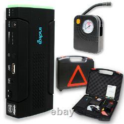 Heavy Duty 12800 Powerbank & Urgence Voiture Jump Starter Kit + Compresseur D'air