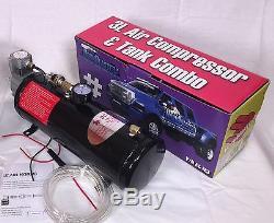 Hornblasters 3 Litres D'air Source Kit Compresseur Et Combo Réservoir