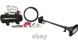 Hornblasters Mother Trucker 127h Loud Air Horn Kit Pour Semi Avec Compresseur Viair