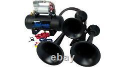 Hornblasters Outlaw Noir 127h Fort Train Kit Air Horn Pour Le Camion Avec Compresseur