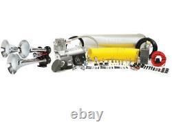 Hornblasters Quad Remarque Trompette Retentissante Kit Air Horn Avec Viair 400c Système Compresseur