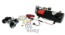 Hornblasters Spocker Compact 3 Litres Fort Air Horn Kit Pour Camion Avec Compresseur