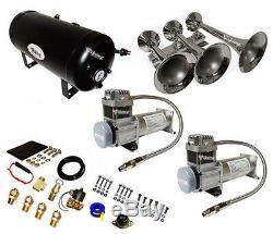 Horns Viking Super Loud 170db Train D'air Horn Kit Double Avec 200 Psi Compresseurs