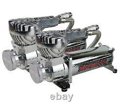 Impala 58-64 3/8 Airmaxxx Kit Complet Air Ride 480 Chrome Compresseur 5 Gal