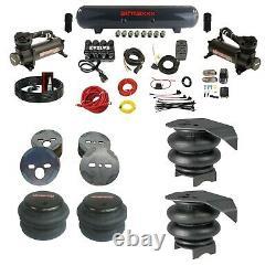 Kit Complet De Suspension Air Ride Pour 88-98 Chevy C15 Avec Sacs Maniafold - 480 Noir