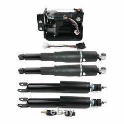 Kit Complet Pour Gmc Yukon XL 1500 Arrière Avant Air Suspension Chocs Struts +pump