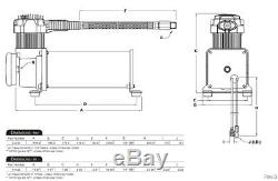 Kit Compresseur D'air Max 200 VII Dual Noir 444c Gratuit Relais Et Commutateur Psi