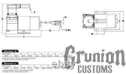 Kit Compresseur Viair 98c Avec Support De Style Omega 12v 00098 130 Psi