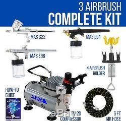 Kit De 3 Supports De Compresseur D'air Master Airbrush, Passe-temps, Auto, Gâteau, Peinture D'art De Tatouage