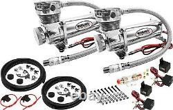 Kit De Suspension Pneumatique Pour Camion / Voiture Sac / Tour / Lift / Spring Double Compresseur, 6g Réservoir