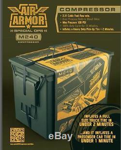 Kit Gonfleur De Compresseur D'air Air Armor Hd 12-v Avec Accessoires Pour Voitures, Camions