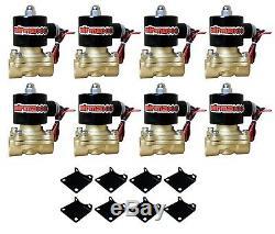 Kit Vannes Impala Air Ride 7 Compresseurs D'air Chromés Switch 580, Réservoir 58-64 Chevy
