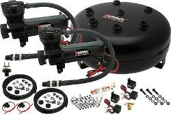 Kit/système De Suspension Pneumatique Pour Camion/sac De Voiture/ride/lift, Double Compresseur, Réservoir 4g