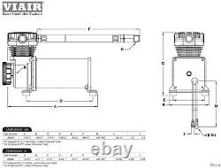 Kleinn 730 Air Horn The Demon Train Horn Avec Viair 480c 2,5g 200psi Kit 158 Db