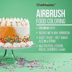 Maître Airbrush Compresseur D'air Gâteau Kit De Décoration 12 Chefmaster Couleurs Set Alimentaires