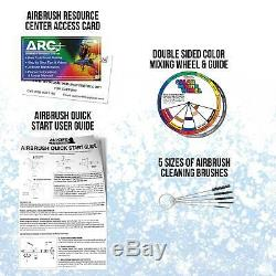Master 3 Airbrush Compresseur D'air Kit, Testors Aztek 6 Couleurs Ensemble Acrylique Peinture