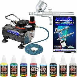 Master Aérographe Gravity Double Action Couleurs Compresseur D'air Primaire Peinture Kit