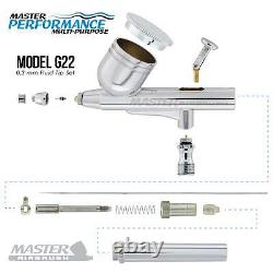 Master Airbrush Air Compressor System Kit, Gravity Feed Dual-action Airbrush Set