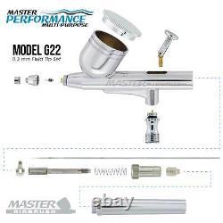 Master Gravity Airbrush Air Tank Compressor Kit Avec 24 Couleurs Acrylique Paint Set