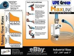 Maxline Comprimé Respiratoire Système De Tuyauterie Principale Kit 3/4 Tuyau X 300 Ft M7580