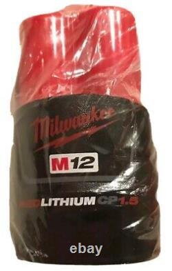 Milwaukee 2475-20 M12 Cordless Compact Tire Inflator 1.5 Kit De Sac Chargeur De Batterie