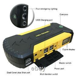 Multi Function Car Jump Starter Batterie Booster Power Bank Rescue Kit 88000mah