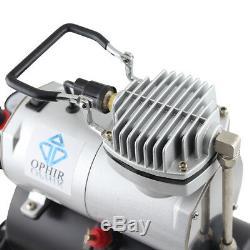 Ophir 220 V 0,2 0,3 0,5 MM Airbrush Gravity Kit Double Action Compresseur D'air Du Réservoir