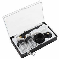 Ophir 3 Airbrush Vaporiser Kits Pistolet Avec Réservoir D'air Compresseur Pour Le Modèle De Maquillage Hobby