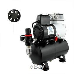 Ophir Airbrush Compresseur D'air Kit Avec Réservoir Et Ventilateur Pour Hobby De Bronzage Tatouage