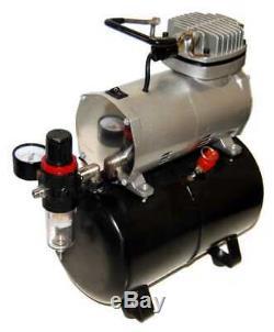 Paasche H-set Aérographie Avec Compresseur Air Complet Avec Réservoir