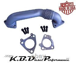 Passenger Side Exhaust Up Pipe Manifold To Turbo 6.6l Duramax Chevy Gmc 01-16