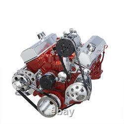 Petit Bloc Chevy Serpentine Pouley Kit De Conversion Climatisation Électrique Wp